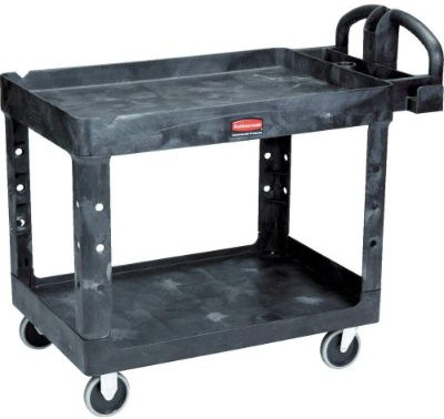 Rubbermaid Commercial Products 2-Shelf Utility:Service Cart