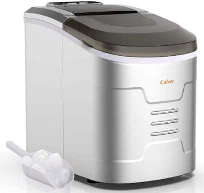 Colzer Portable Electronic Ice Maker Machine, Countertop Ice Maker