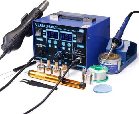 YIHUA 862BD+ SMD ESD Safe 2 in 1 Soldering Iron Hot Air Rework Station