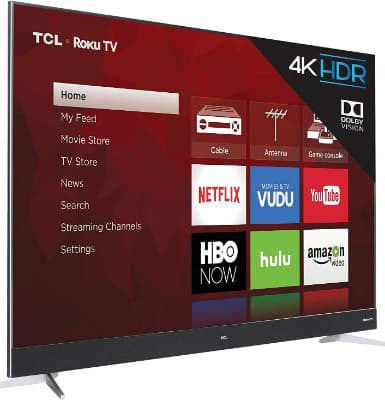 TCL 75C807 75-Inch 4K Ultra HD Roku Smart LED TV