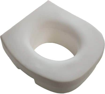 PCP Raised Toilet Seat, 5-Inch Elevated Height Over Commode, Increased Lift to Support Safety Stability and Comfort