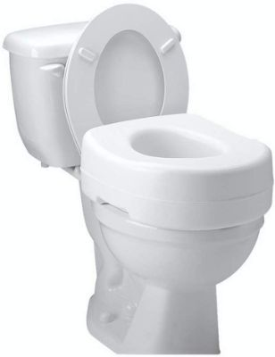 Carex Toilet Seat Riser - Adds 5 Inch of Height to Toilet - Raised Toilet Seat With 300-Pound Weight Capacity