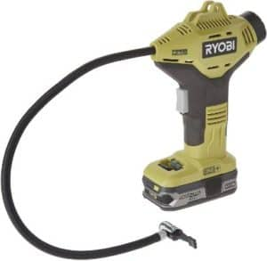Ryobi P737+P107 ONE Plus Power Inflator with Compact Lithium Plus Battery