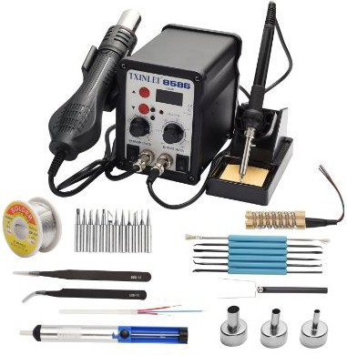 TXINLEI 8586 110V Solder Station, 2 in 1 Digital Display