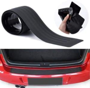 Advgears Rear Bumper Protector Guard Universal Black Rubber Scratch-Resistant