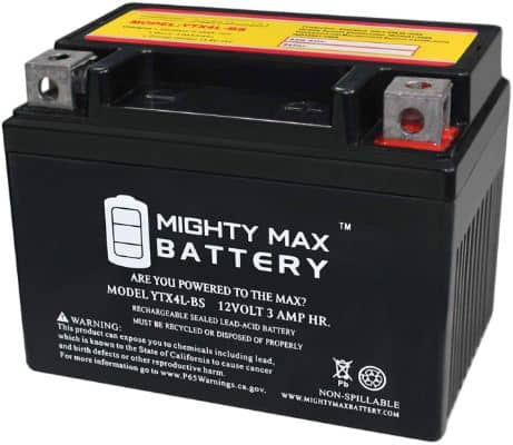 Mighty Max Battery YTX4L-BS Replacement for Snapper Push Lawnmower