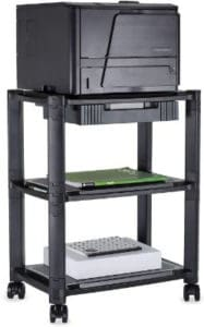 Mount-It Printer Stand With Wheels And Drawer