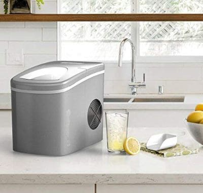 hOmeLabs Portable Ice Maker Machine for Countertop - Makes 26 lbs