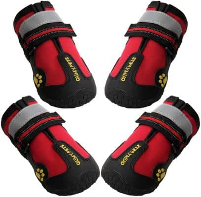 Dog Boots Waterproof Shoes for Dogs with Reflective Strips