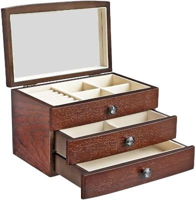 Jewelry Box Wooden Case Organizer
