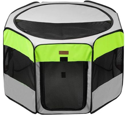 Dog Playpen, Foldable Puppy Pet Exercise Kennel