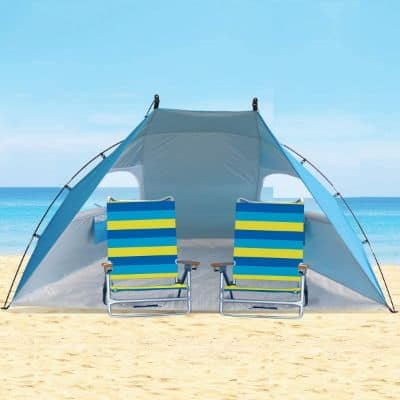 Easy Set Up Portable Sun Shelter Beach Tent Camping Shelter