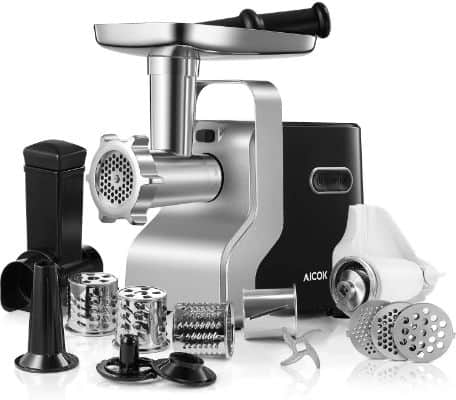 Electric Meat Grinder, 2500W Max Powerful AICOK MG2950R 5-IN-1 Meat Mincer
