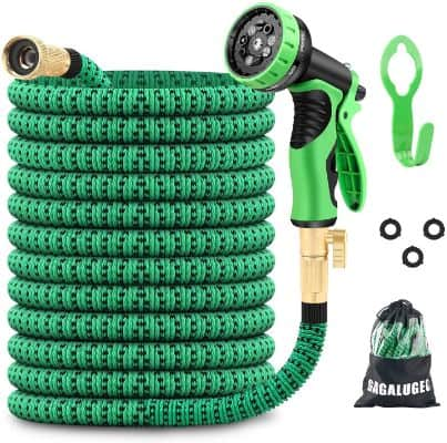 50ft Expandable Garden Hose with 9 Function Nozzle