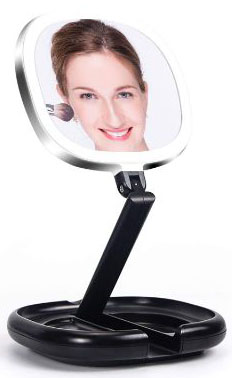 Lighted Makeup Mirror, Double Sided Magnifying Mirror