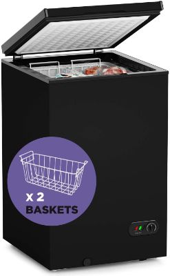Chest Freezer - 3.5 Cu Ft with 2 Removable Baskets