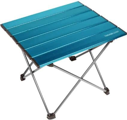 Portable Camping Side Tables with Aluminum Table Top