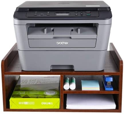 Wooden Monitor Printer Stand With Storage