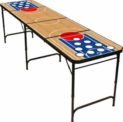8' Folding Beer Pong Table with Bottle Opener