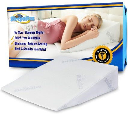 8 Wedge Pillow for Acid Reflux, Luxurious 3.25 Memory Foam