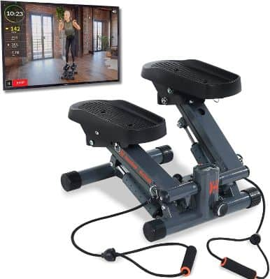 Bluetooth Cardio Stair Stepper with Adjustable Resistance Bands