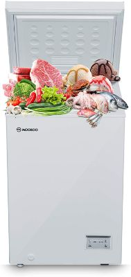 Chest Freezer 3.5 Cubic Feet with Removable Basket
