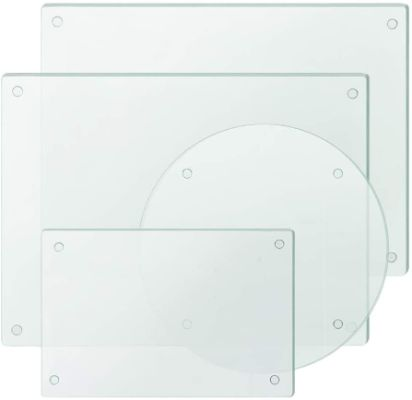 Clear Tempered Glass Cutting Board Set of 4