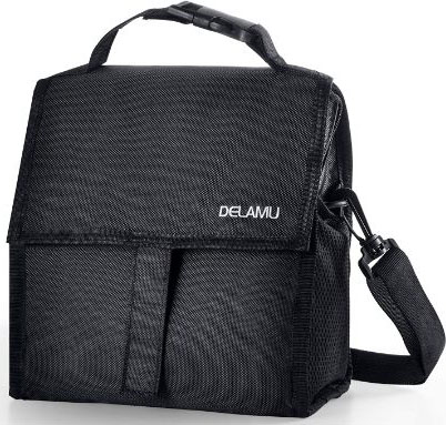 New Freezable Lunch Bag, Delamu Insulated Lunch Bag with Shoulder Strap