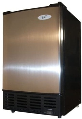 Portable Ice Maker With Stainless Steel Door