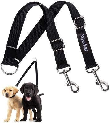 Double Dog Walker, Adjustable Heavy Duty Double Dog Leash for Pets