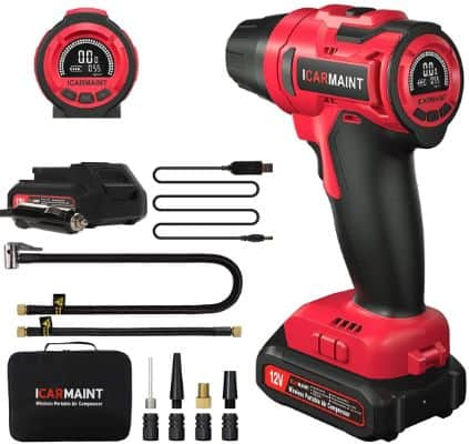 Cordless Air Compressor With Digital Pressure Gauge