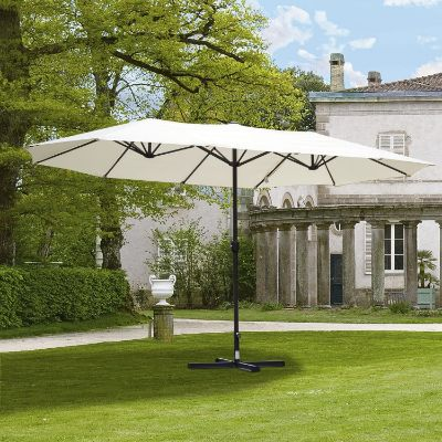 Double-Sided Outdoor Patio Umbrella