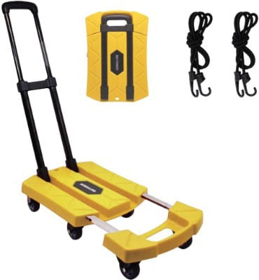 Solid Construction Hand Truck With 6 Wheels