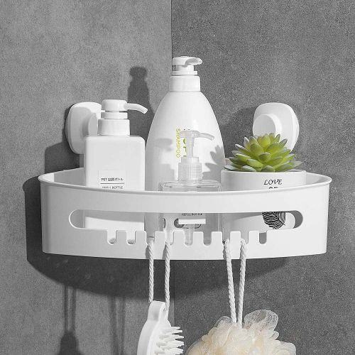 Wall Mount Corner Shower Caddy With Suction Cup