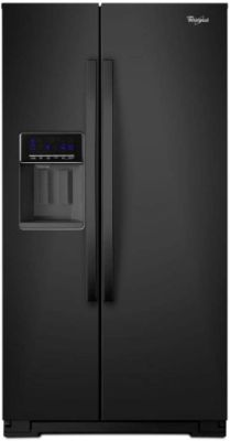 Whirlpool WRS571CIDB 20.6 Cu. Ft. Black Counter-Depth Side-by-Side Refrigerator