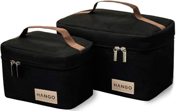 Hango Adult Lunch Box Insulated Lunch Bag Large Cooler Tote Bag (Set of 2 Sizes)