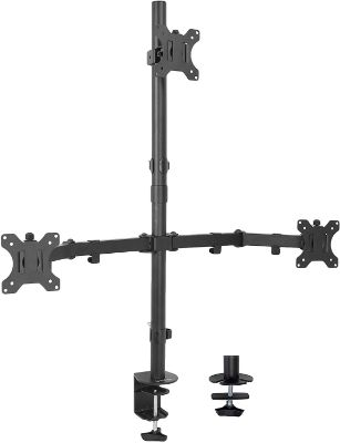 VIVO Triple LCD Monitor Desk Mount Stand Heavy Duty and Fully Adjustable | 3 Screens up to 30 inches