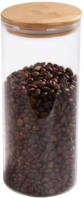 Glass Coffee Bean Container, 52.36 FL OZ (1550 ML)