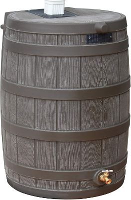 Good Ideas RW50-OAK Rain Wizard Rain Barrel 50 Gallon