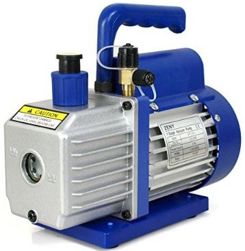 ZENY 3,5CFM Single-Stage 5 Pa Rotary Vane Economy Vacuum Pump 3 CFM 1:4HP Air Conditioner Refrigerant