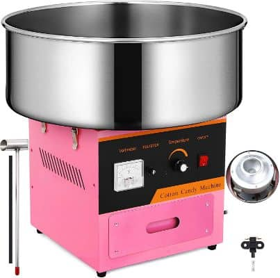 Happybuy Candy Floss Maker 20.5 Inch Commercial Cotton Candy Machine Stainless Steel for Various Parties