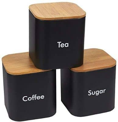 Kitchen Canister Set - 3-Piece Coffee, Sugar