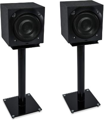 Mount-It! Floor Speaker Stands for Satellite Speakers and Surround Sound (5.1 and 2.1) Systems