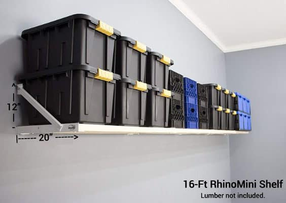 DIY RhinoMini Universal Shelf Kits for Garages