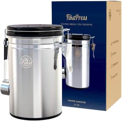 FikaPress Airtight Coffee Canister