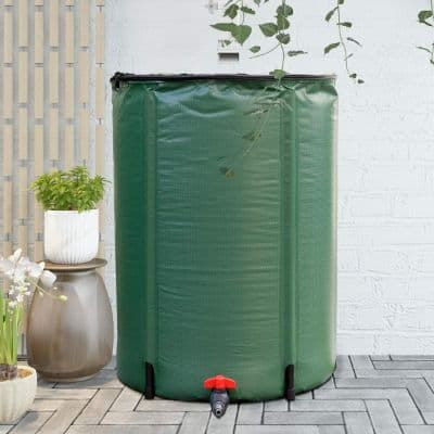 Goplus Portable Rain Barrel Water Collector Collapsible Tank