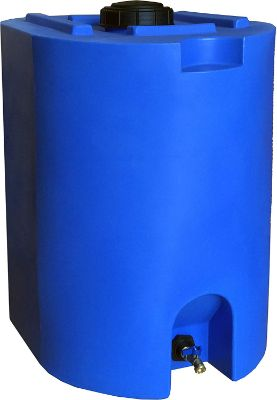 Blue 55 Gallon Water Storage Tank by WaterPrepared