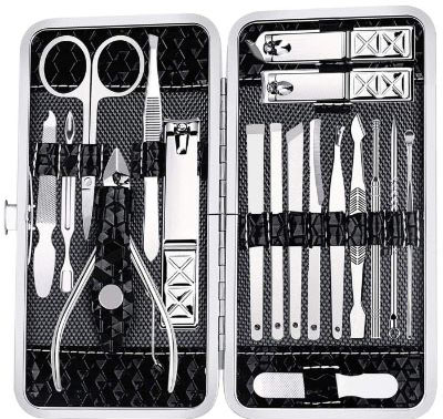Manicure Set Nail Clippers Pedicure Kit - 18 Piece Stainless Steel Manicure Kit, Professional Grooming Kit
