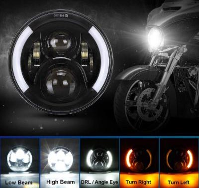 SUPAREE 7 inches LED Motorcycle Headlight for Harley Davidson Touring Road King Ultra Classic Electra