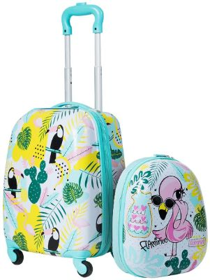 HONEY JOY 2Pc Kids Luggage Set, 12 Backpack & 16 Rolling Suitcase